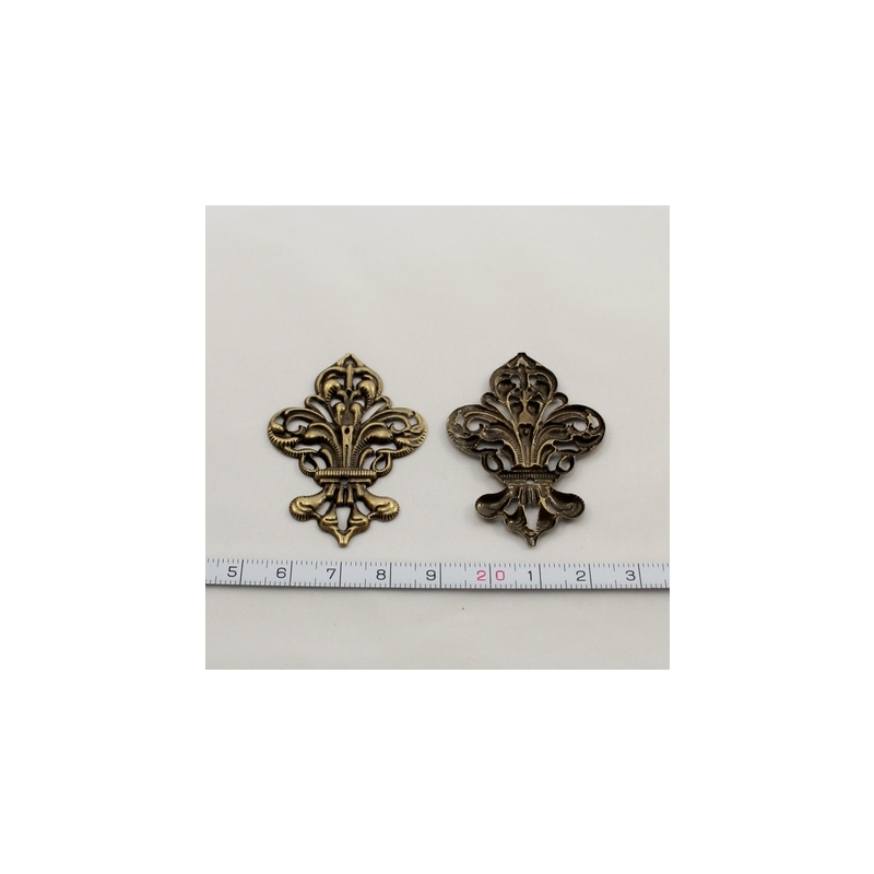 Filigree, pronks - 50 x 35 x 2 mm