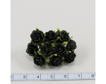 10 mm Mulberry roosikimp, 10 õit -  must