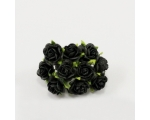 15 mm Mulberry roosikimp, 10 õit -  must