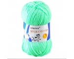 TPRPYN pehme lõng MILK COTTON, Baby-Soft, cotton-milk fiber - 50g, mündiroheline