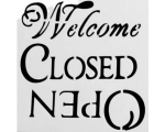 """Šabloon """"Welcome-Closed-Open"""" - 130 mm"""