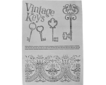 "Suur šabloon ""Vintage Keys"" - 295 x 205 mm"